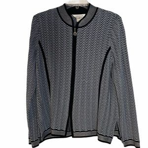 Misook Exclusive black and white print jacket